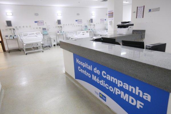 [Hospital de campanha para tratamento da covid-19 foi inaugurado no último sábado (01) em Brasília]
