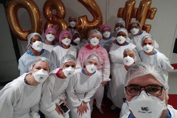 [Hospital de campanha da Arena Fonte Nova comemora 480 altas]