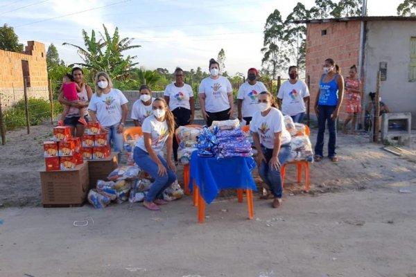 [Hospital de Tratamento de Covid-19 em Eunápolis realiza ação social em bairro da cidade]