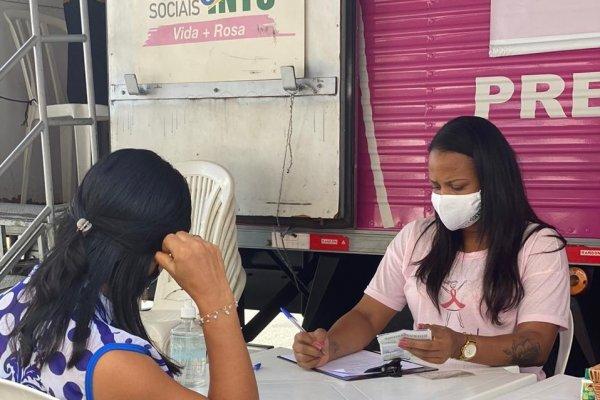 Mais de 160 mamografias gratuitas foram realizadas no bairro da Massaranduba