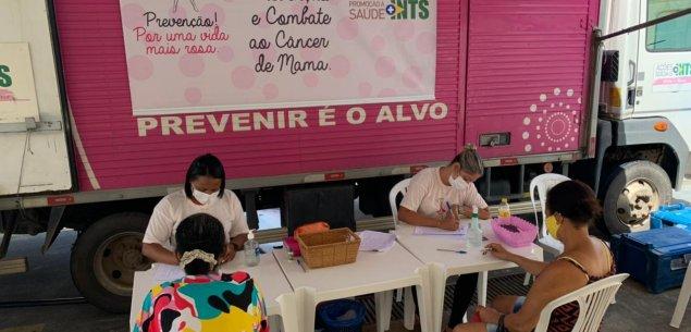 Instituto oferece mamografia gratuita para mais de 160 mulheres na Estrada das Barreiras