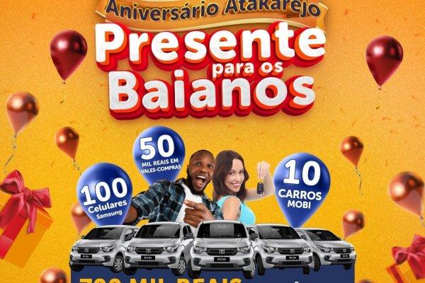 Atakarejo comemora mês de aniversário com prêmios para clientes